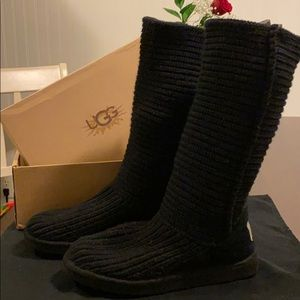 Ugg Classic Tall Crochet Black 9 Adorable Fit Wide